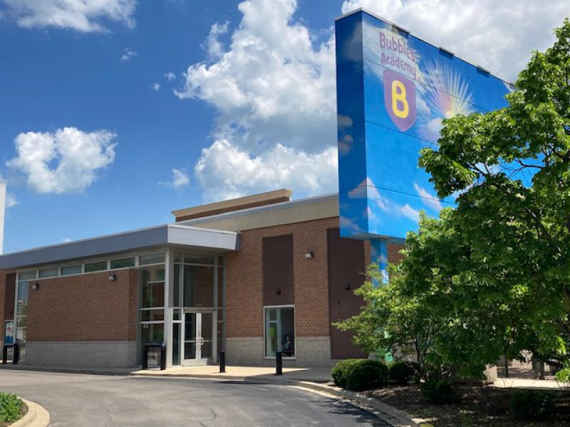 Exterior of Bubbles Academy